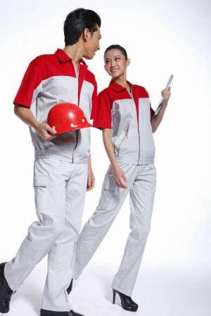 短袖工作服男女套装夏季工程服装劳保服电工服汽修短袖