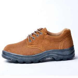 男士 牛皮防护鞋 防砸防穿刺安全防护劳保鞋